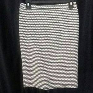 Merona Black/White Pencil Skirt